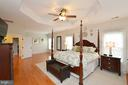 Master Bedroom has sitting area and tray ceiling - 18490 ORCHID DR, LEESBURG