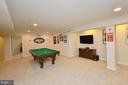Rec Room has plenty of space for games & fun - 18490 ORCHID DR, LEESBURG