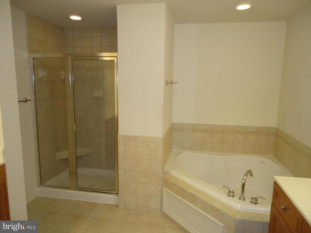 Master Bathroom has Tile Shower w/Seat - 485 HARBOR SIDE ST #306, WOODBRIDGE
