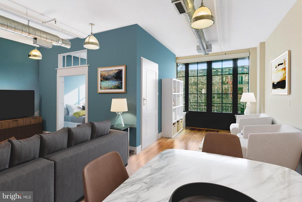 Rendering of 2nd bedroom - possible to build - 1600 CLARENDON BLVD #W212, ARLINGTON