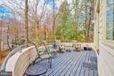 Rear Deck with view of lake - 11581 GREENWICH POINT RD, RESTON