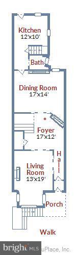 Main Level - 1207 KENYON ST NW, WASHINGTON