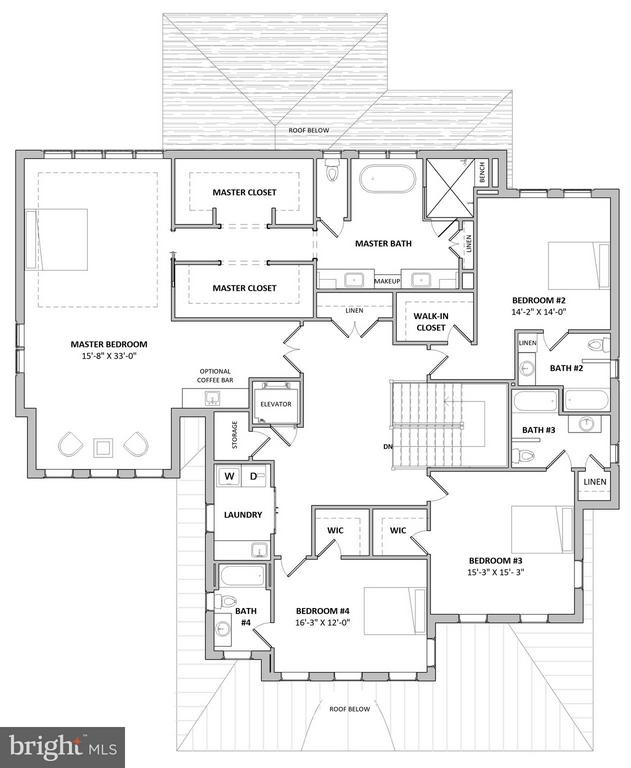 Proposed Second Floor Plan - 3515 N VALLEY ST, ARLINGTON