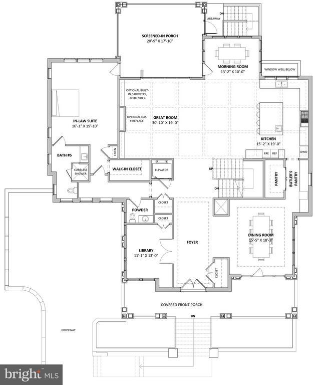 Proposed First Floor Plan - 3515 N VALLEY ST, ARLINGTON