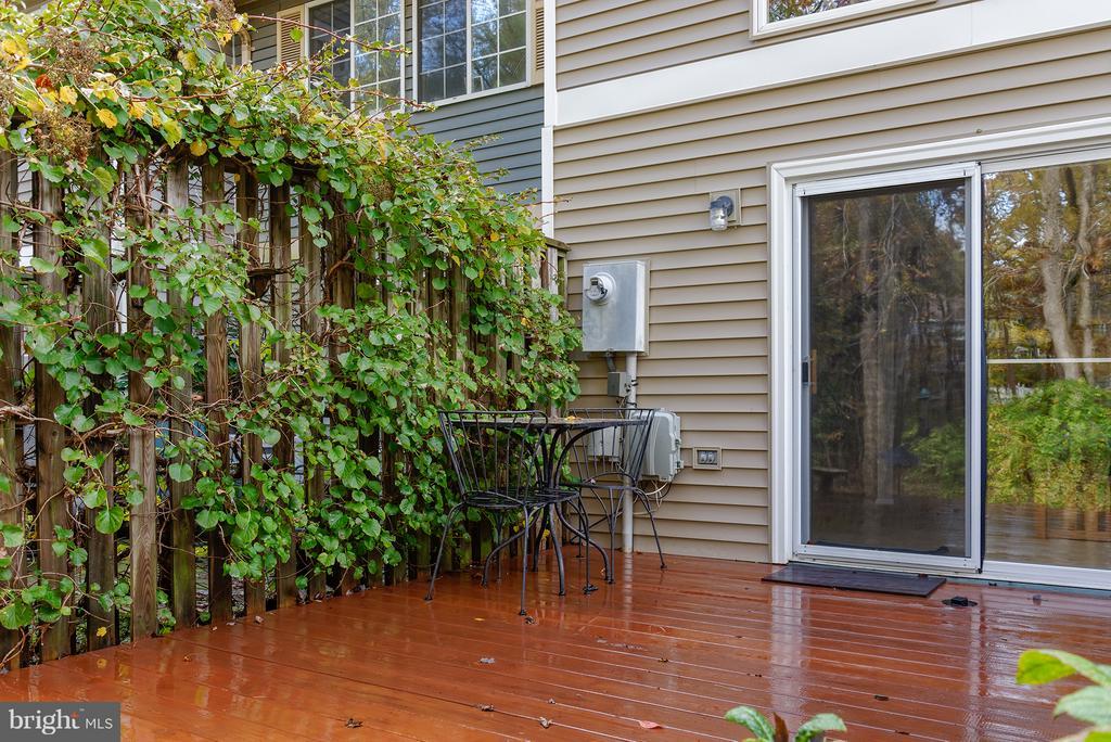 Private patio - 1652 HARVEST GREEN CT, RESTON