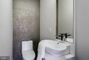 HALF BATH ON KITCHEN, LIVING AND DINING LEVEL - 3722 R ST NW, WASHINGTON