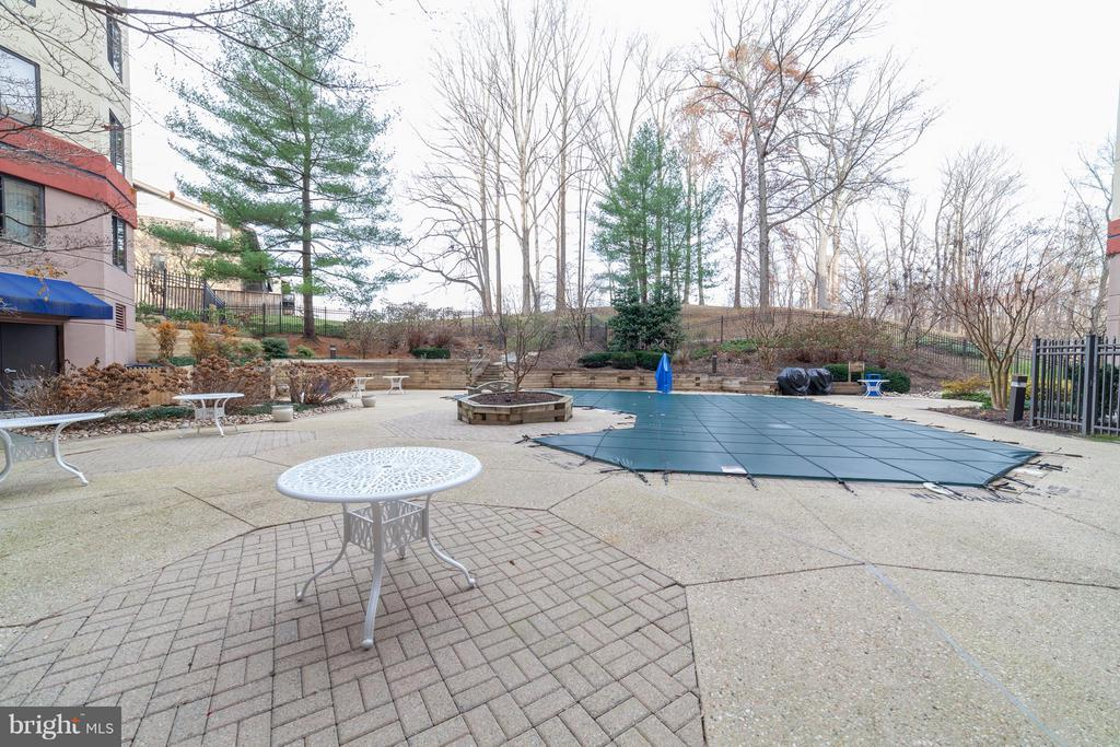 Pool and BBQ area - 10001 WINDSTREAM DR #207, COLUMBIA