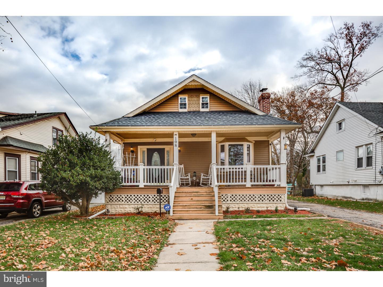 Частный односемейный дом для того Продажа на 108 E BETTLEWOOD Avenue Oaklyn, Нью-Джерси 08107 Соединенные Штаты