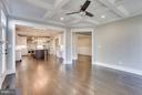 Coffered Ceiling in Family Room - 6713 19TH ST N, ARLINGTON