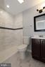 Masters new full bathroom with ceramic tile - 843 SMARTTS LN NE, LEESBURG