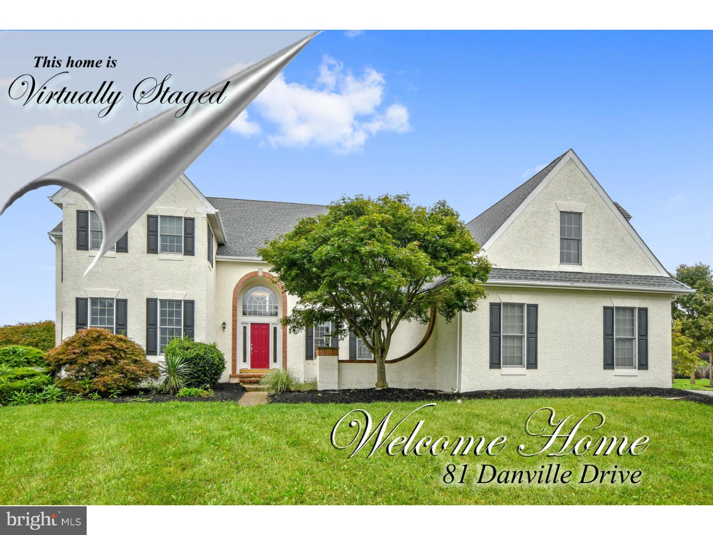 Single Family Home for Sale at 81 DANVILLE Drive Princeton Junction, New Jersey 08550 United StatesMunicipality: West Windsor Twp
