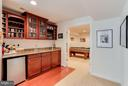 Wet Bar in LL Family Room leading to Game Room - 1906 EAMONS WAY, ANNAPOLIS