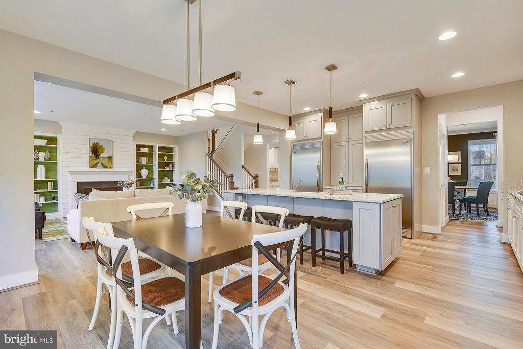 Alternate view of kitchen and family room - 299 BONHEUR AVE, GAMBRILLS