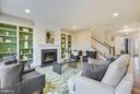 Family room with fireplace - 299 BONHEUR AVE, GAMBRILLS