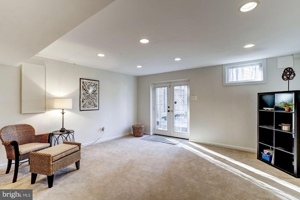 Lower Level Family room with walk out to deck - 11657 GILMAN LN, HERNDON