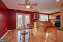 Kitchen and Eat-in Space with Rear Deck Access - 2158 GOLF COURSE DR, RESTON