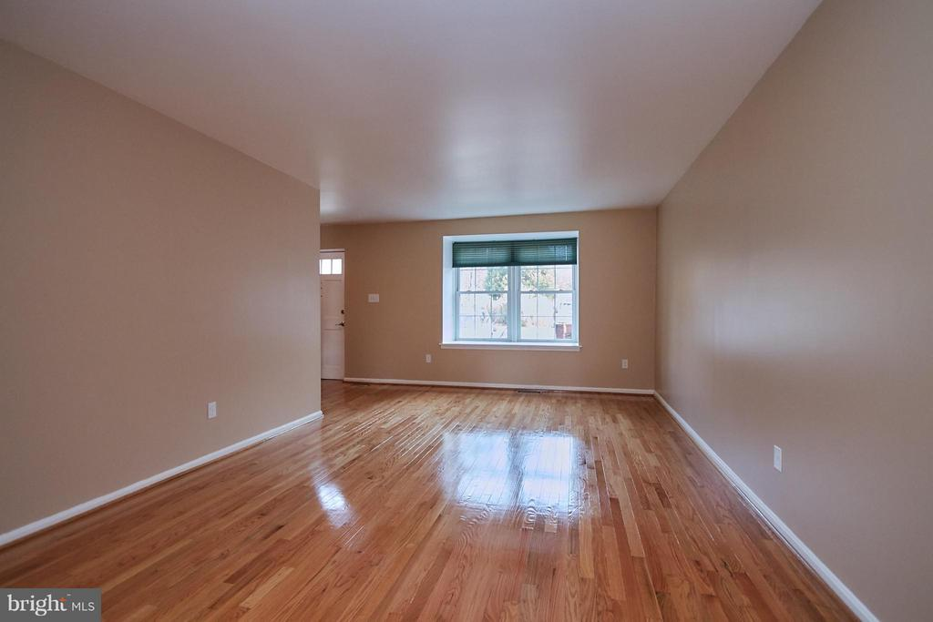 Living Room with Gleaming Hardwood Floors - 2158 GOLF COURSE DR, RESTON