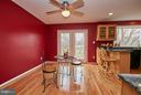 Large Eat-In Space with Ceiling Fan - 2158 GOLF COURSE DR, RESTON