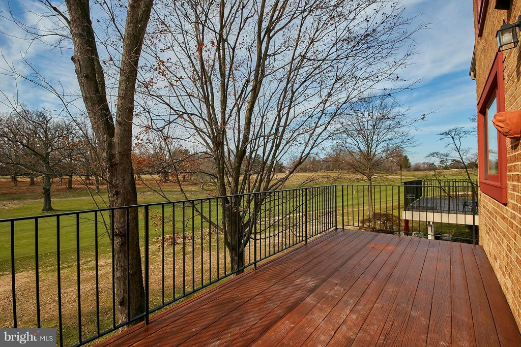 Rear Deck Overlooking Golf Course - 2158 GOLF COURSE DR, RESTON