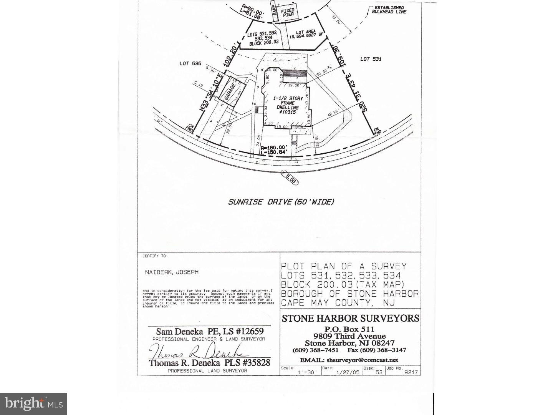 Single Family Home for Sale at 10315 SUNRISE Drive Stone Harbor, New Jersey 08247 United StatesMunicipality: Stone Harbor