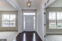 Foyer Entrance with Hardwood - 16765 MILL STATION WAY #43, DUMFRIES