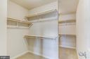 His and Her Walk-in Closet - 16765 MILL STATION WAY #43, DUMFRIES
