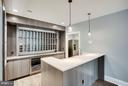 Modern Design of Rec Room Wet Bar - 11701 VALLEY RD, FAIRFAX