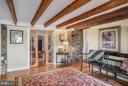 Office with original beams and FIOS - 18483 SILCOTT SPRINGS RD, PURCELLVILLE