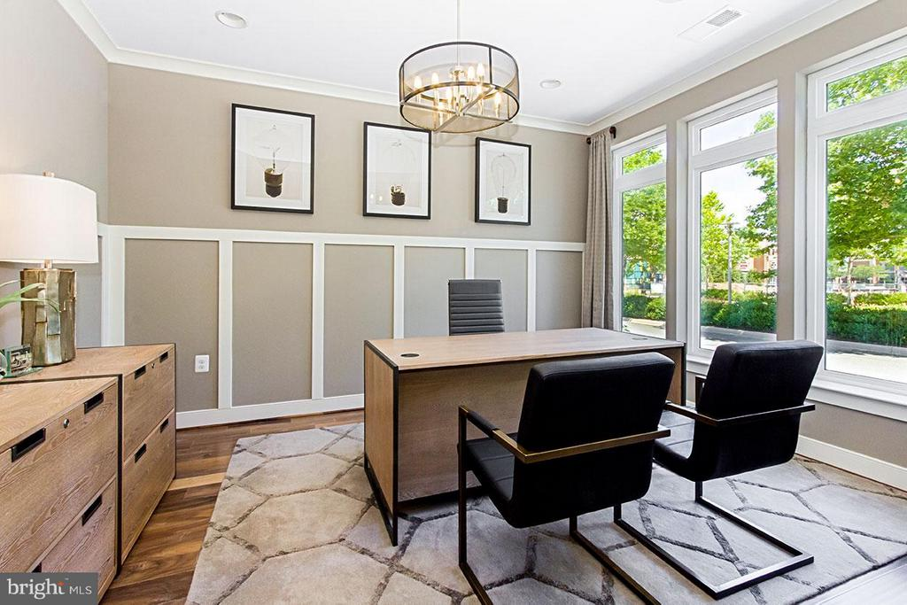 Study with Double Glass Doors - 22000 EMBER BROOK CIR S, ASHBURN
