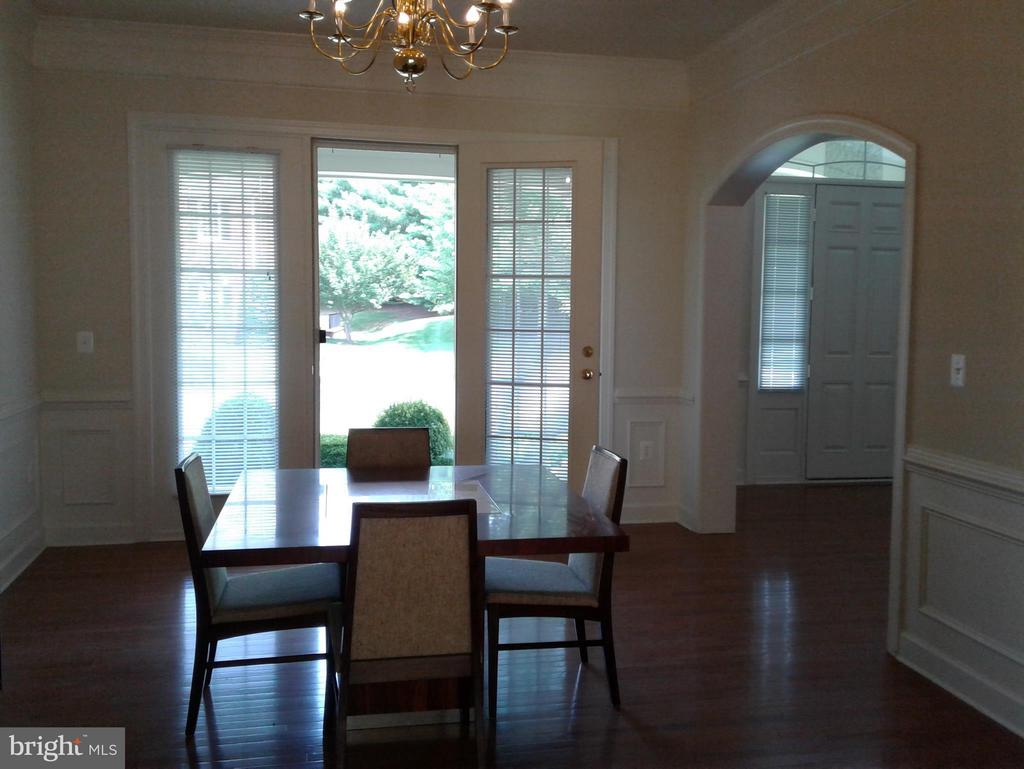 Dining Room Breathtaking DR with Glass Door - 18275 GLEN OAK WAY, LEESBURG