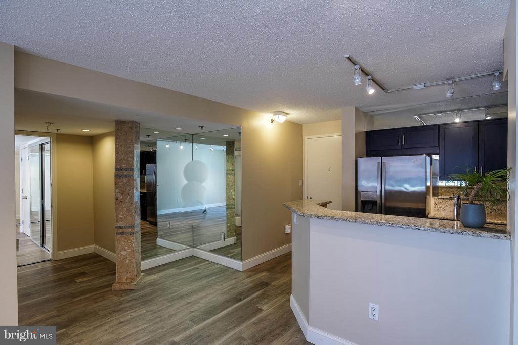 Kitchen, Foyer & Living Area - 1230 23RD ST NW #503, WASHINGTON