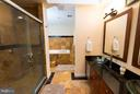 Updated Master Bath with separate tub/shower - 9109 WHITE CHIMNEY LN, GREAT FALLS