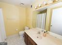 Full bath off by the rec room and basement bedroom - 9109 WHITE CHIMNEY LN, GREAT FALLS