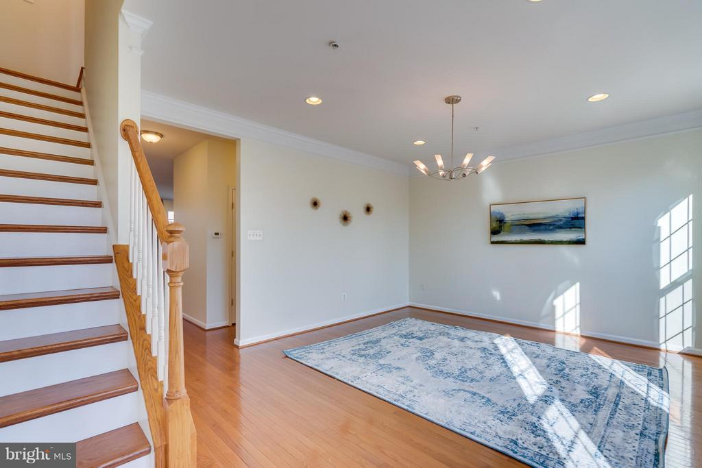 Recessed lighting, modern chandelier and large - 3530 CONNOR PL, FREDERICK
