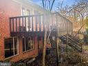 Exterior Rear, walk in to basement level and deck - 7202 CATLETT ST, SPRINGFIELD