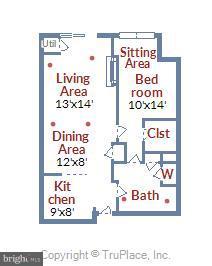 Floor plan for Unit B28 on the B1 level - 1021 N GARFIELD ST #B28, ARLINGTON