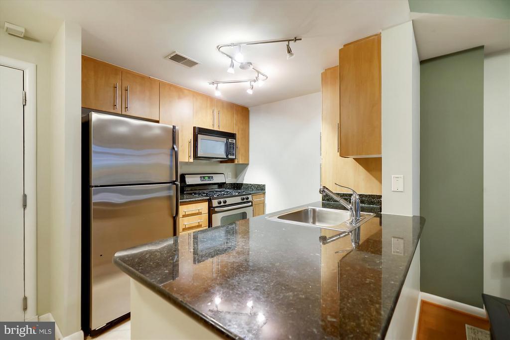 Kitchen - Maple/granite/stainless - 1021 N GARFIELD ST #B28, ARLINGTON