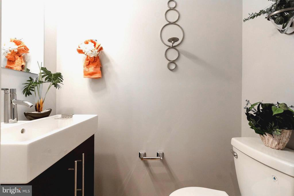 Modern and Bright Powder Room - 225 BRYANT ST NE, WASHINGTON
