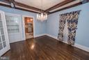 Formal Dining Room With Decorative Ceilings - 909 W KING ST, MARTINSBURG