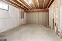 Unfinished space for storage or future playroom - 4641 HOLLY AVE, FAIRFAX