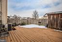 Large back deck - 10600 GRETA LYNN CT, FREDERICKSBURG