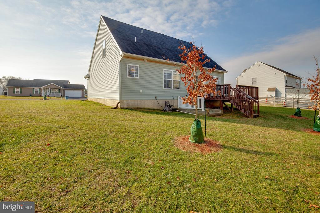 Rear exterior - beautiful maple trees! - 100 TATHER DR, MARTINSBURG