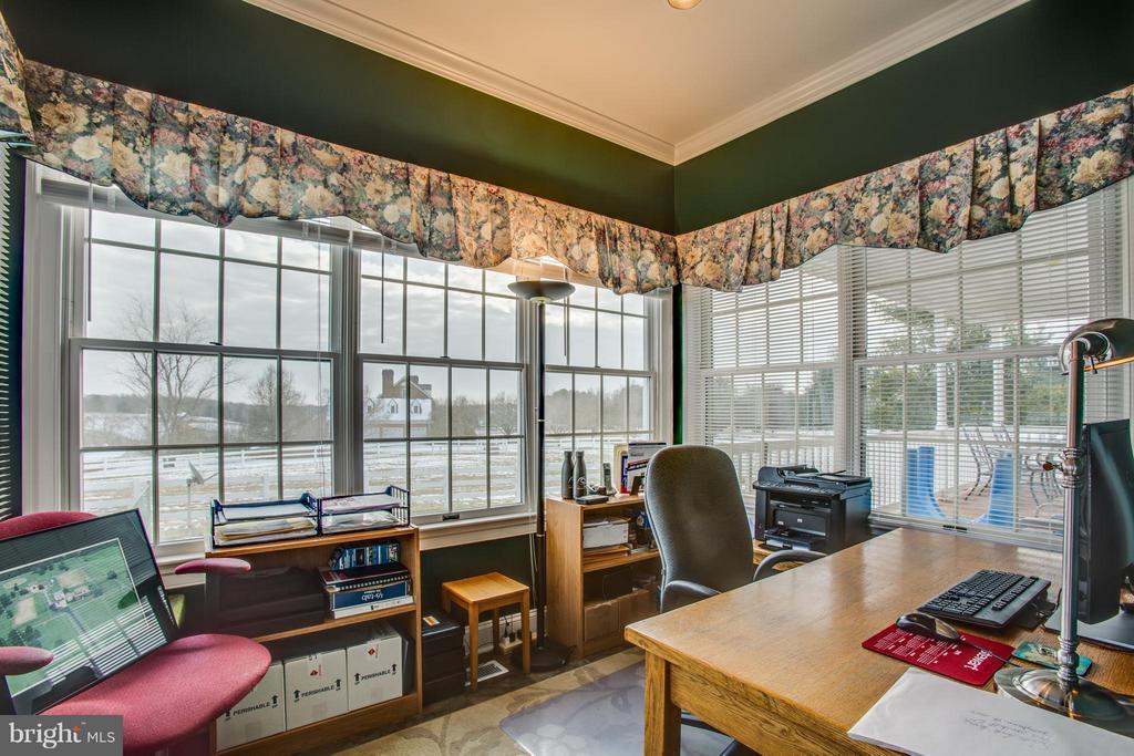 Atrium/office space main level overlooking farm - 7411 SNOW HILL DR, SPOTSYLVANIA