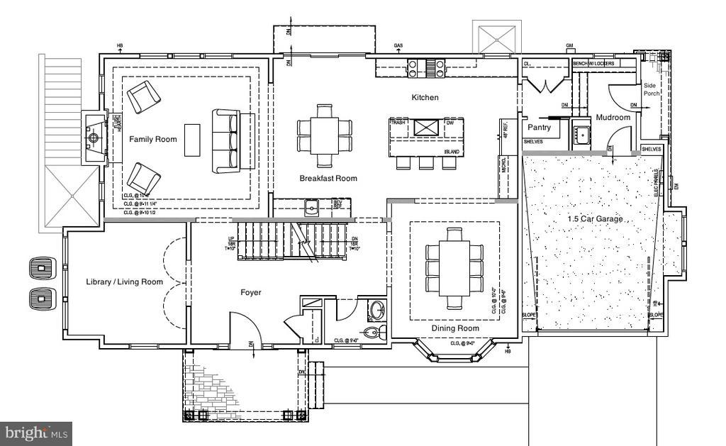 Main Level - 10' ceiling - 5703-A RIDGEFIELD RD, BETHESDA