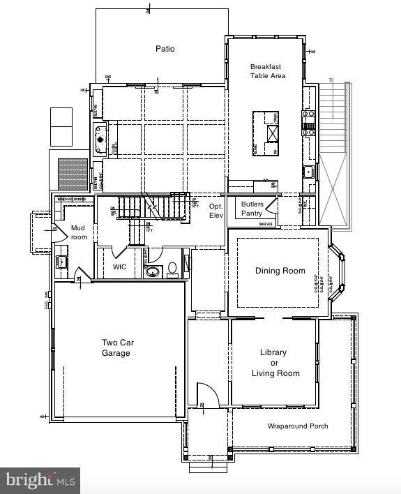 Main Level - 10' ceilings - 5703 RIDGEFIELD RD, BETHESDA