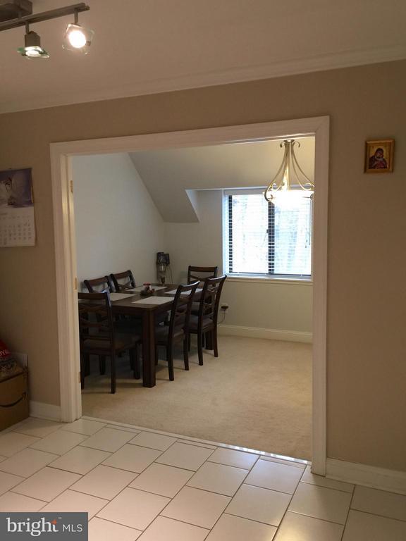 Dining Room from the Kitchen - 1664 PARKCREST CIR #300, RESTON