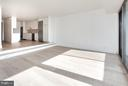Expansive entertaining space w/wide plank flooring - 2501 M ST NW #608, WASHINGTON