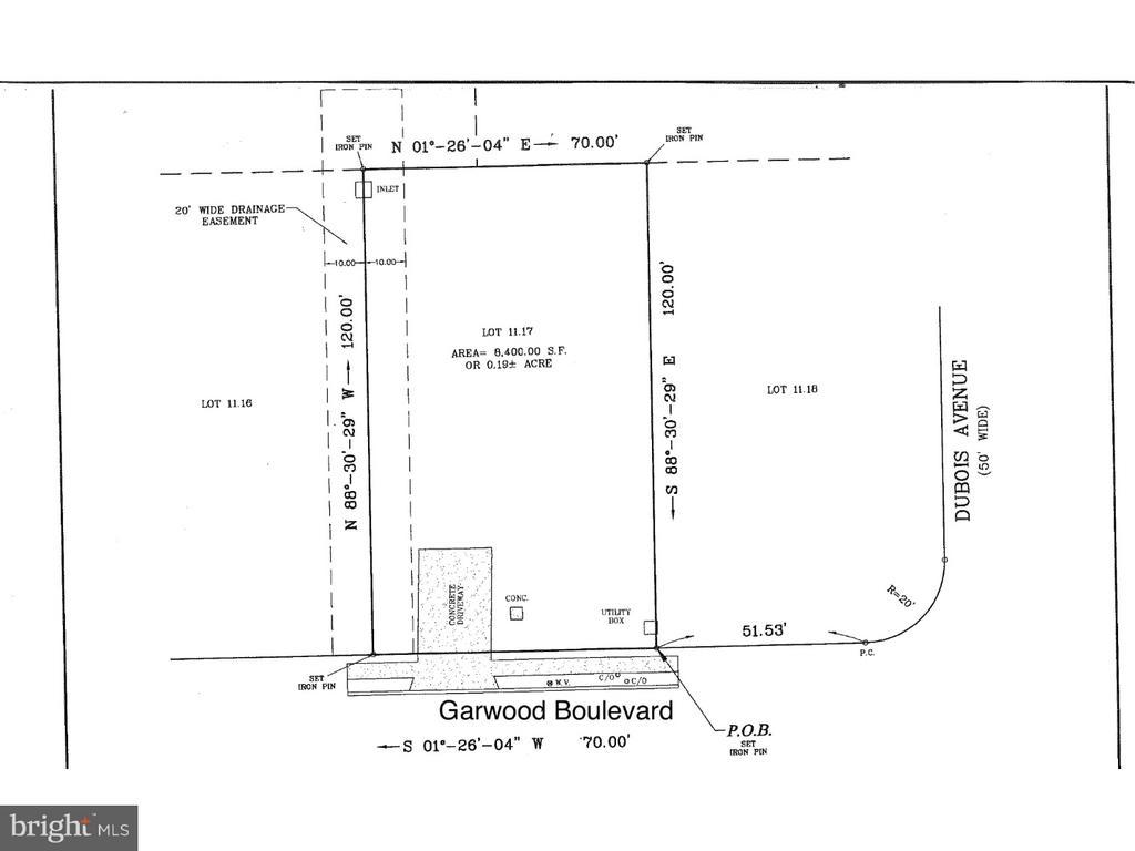 Land Survey - 35 GARWOOD BLVD, CLAYTON