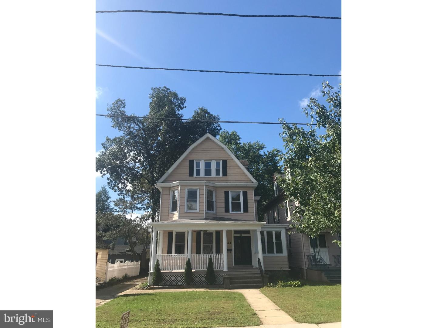Single Family Home for Sale at 114 N CENTRE Street Merchantville, New Jersey 08109 United StatesMunicipality: Merchantville