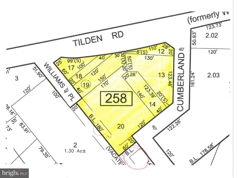 토지 용 매매 에 L: 0 TILDEN Road West Deptford, 뉴저지 08096 미국